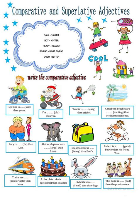 COMPARATIVE AND SUPERLATIVE ADJECTIVES worksheet - Free