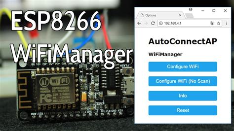 WiFiManager with ESP8266 - Autoconnect, Custom Parameter