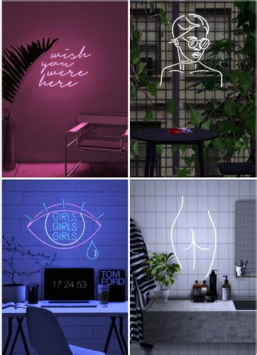 Sims 4 neon downloads » Sims 4 Updates