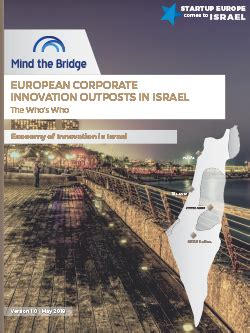 EU Corporate Innovation Outposts in Israel - 2018 Report