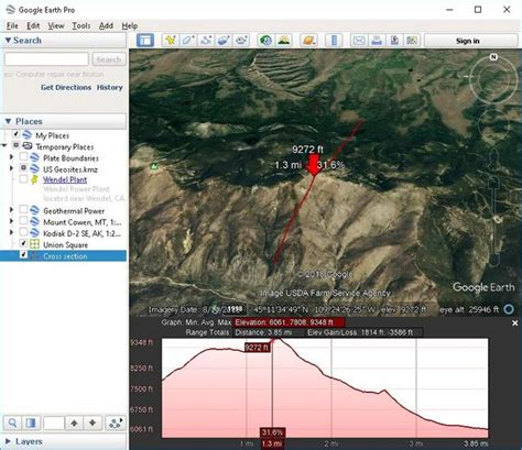 Google Earth Pro help viewing elevation profile