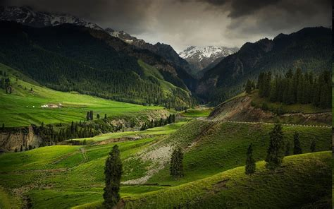 mountain, Valley, Nature, Landscape, Forest, China, Green