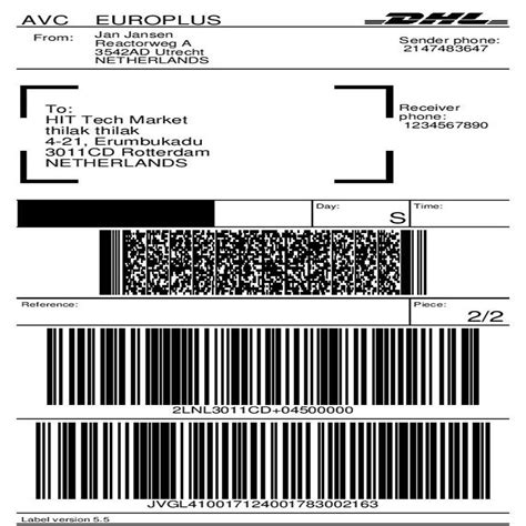 DHL Parcel Shipping with Print Label