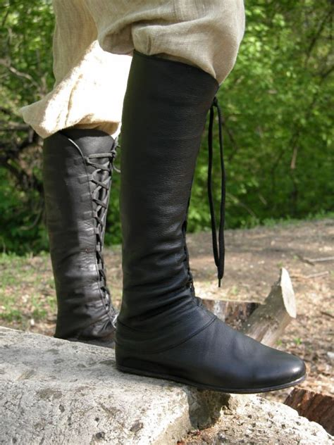 Medieval High Boot Forest - Authentic renaissance clothing
